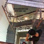 Lắp đặt lưới an toàn cầu thang rẻ đẹp tại phường Xuân La