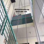 Lắp đặt lưới an toàn cầu thang giá rẻ trong ngày tại quận Hoàng Mai