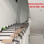 Lắp đặt lan can cầu thang bằng dây cáp tại huyện Đan Phượng, Hà Nội