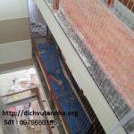 Lắp đặt lưới an toàn Hòa Phát cho cầu thang tại huyện Gia Lâm- Hà Nội